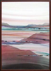 "Daniel Lencioni ""Vertical Landscape"" framed Original Acrylic Painting, OBO!"