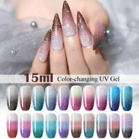 UR SUGAR 15ml Thermal UV Gel Polish Color Changing Soak Off Nail Gel Varnish