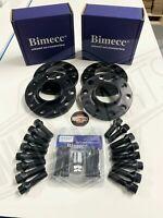 12mm / 15mm Alloy Wheel Spacer BMW 1 2 3 4 5 SERIES M14X1.25 + Lockers Bimecc