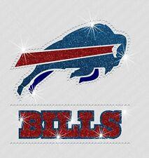 NFL:  Buffalo Bills - Bling - Iron-on Glitter Vinyl & Rhinestone Transfer