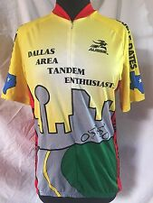 "AUSSIE Cycling Jersey ""Dallas Area Tandem Enthusiasts"" Texas Men's Large"