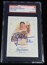 Clayton Kershaw SGC slabbed signed baseball card 2013 Topps Allen and Ginter #88