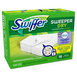 Swiffer Sweeper Dry Sweeping Pad Refills Febreze Lavender Vanilla 16 Count