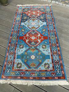 Teppich, Kasak, ca. 190 x 95 cm (ohne Fransen)