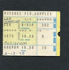 1975 Led Zeppelin Ronnie Wood Concert Ticket Stub Uniondale Ny Physical Graffiti