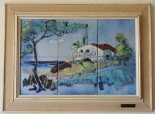 Paysage Provençal émaux CARREAU Céramique louis Giraud - Vallauris design 1950