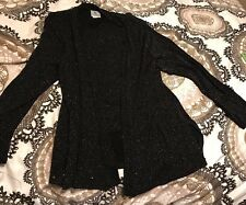 Praise Hymn Fashions Womens Sparkly Top Jacket Small S Black Evening