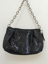 Coach RARE black Poppy occasion sequin pouch clutch bag #14368 EUC