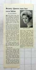 1962 Miss Jeanne Worth, Beauty Queen Runs Salon In East Mosley