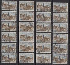 K106* Lot Timbres Oblitérés n°1712 1972 (ABBAYE DE CHARLIEU) x24 pour étude