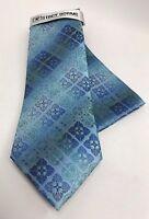 Stacy Adams Men's Tie & Hanky Set Turquoise Cobalt Blue Royal Blue Microfiber