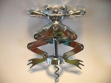 Vintage Leaping FROG Chrome CORK SCREW Wine Bottle Opener Plated Cast Metal