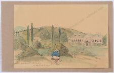 "Princess Henriette Odescalchi (1800-1852) ""Son Victor en plein air"", 1845"