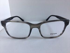 New PRADA VPR 0U6 VYR-1O1 52mm Gray Eyeglasses Frame  #4,7