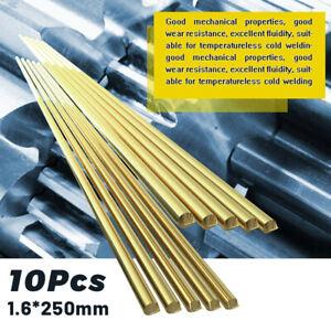 10pcs 1.6*250mm Low Temperature Brass Welding Rods For Repair Brazing Soldering