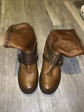 Frye Jenna Studded Biker Boots UK SZ 5