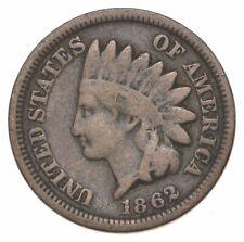 Civil War Era - 1862 Copper Nickel Indian Head Cent - Historic *762