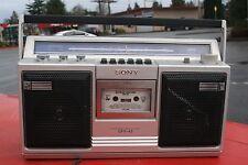 Vintage Sony CFS-43 Boombox Blaster Portable Cassette Deck AM/FM Radio Tested