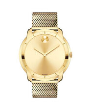 MOVADO BOLD 3600373 Large THIN Dial Stainless Steel Mesh Bracelet Men's Watch