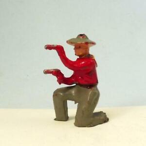 Vintage Lead KNEELING COWBOY * VGC * 1950s by CRESCENT - Britains Era Wild West