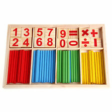 Kids Wooden Numbers Early Learning Counting Educational Math Toy Manipulatives