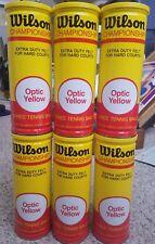 Sealed Wilson Championship Tennis Balls Extra Duty Felt Optic Yellow Lot Of 6!