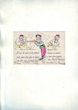 carte postale ancienne humoristique -- dos vierge - ecrite sur devant