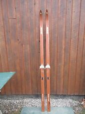 """New listing Vintage Hickory Wooden 82"""" Snow Skis Brown Finish Great 00004000  Decoration"""