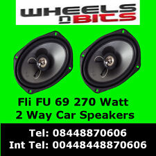 "FLI FU 69 270Watt 2Way 6""x9"" Inch Car Speaker rear Deck/Shelf Undergroud Range"