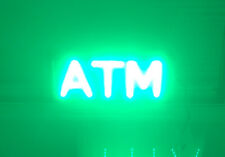 Lighted Atm Money Lighted Sign Business Store Commercial Mega Smart Led Signs