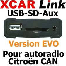 XCARLink USB-SD EVO CITROEN CAN C2,DS3,C3,C4,DS4,C5,DS5,C6,Nemo,Berlingo,Jumpy,