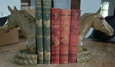 Cast Iron Pair Olive Horses Heads Bookends Vintage Rustic Equestrian Gift