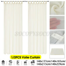 "55"" Sheer Voile Window Curtain Drape Tulle Scarf Living Room Bedroom Decor USA"