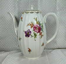 "BEAUTIFUL 8 1/4"" TALL WURTTEMBERG GERMAN PORCELAIN ""PATTERN #2188"" COFFEE POT"