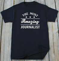 Journalist T-Shirt Journalism Newspaper Journalist Profession Christmas Gift Tee