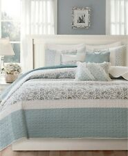 Madison Park Dawn 6-Pc Floral Quilted Coverlet Set KING / CALIFORNIA KING - Blue
