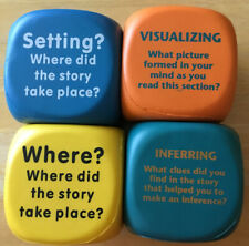 Reading Comprehension Cubes Set Of 4- Beginner And Intermediate-Small Group Use