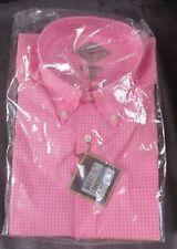 BILLS KHAKIS Pink Gingham Check Long Sleeve Mens Button Front Shirt Size XL
