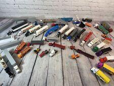 SEMI TRUCK & CARGO TRAILER DIE CAST METAL TRUCK Lot of 38 & Bonus Items-A12