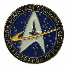 Star Trek Star fleet Command Science Fiction Metal Lapel Pin Badge Pinback Blue