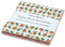 "Sugar Plum Christmas Moda Charm Pack 42 100% Cotton 5"" Precut Quilt Squares"