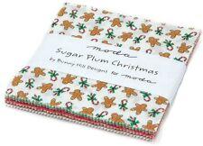 "Sugar Plum Christmas Moda Charm Pack 42 100% Cotton 5"" Precut Quilt Squares"