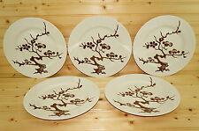 "Fitz & Floyd Prunier De Chine Cognac  (5) Dinner Plates, 10 3/8"""