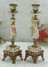 Kerzenleuchter Set Porzellan Engel Putten Antik Barock Kerzenständer Luxus Edel