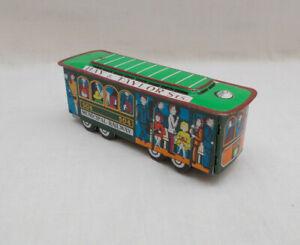 Tin Plate Friction Drive Municipal Railway Tram Car