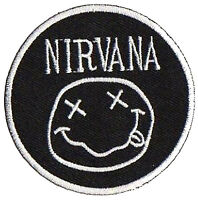 Patche écusson Nirvana transfert grunge thermocollant patch brodé