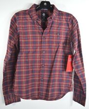 2015 NWT YOUTH BOYS ELEMENT BUNKER FLANNEL SHIRT $40 M wine chest pocket logo