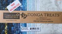 "Timeless Treasures Tonga Batik Treats Precut 5"" X  5"" Fabric Squares Blue Moon"