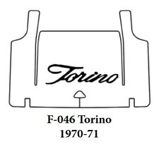 1970 1971 Ford Torino Trunk Rubber Floor Mat Cover with F-046 Torino Script