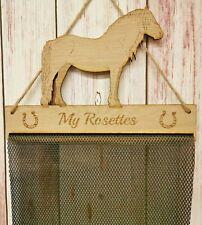 Fell Pony Rosette Holder Hanger Oak Veneer Fabric Mesh Horse
